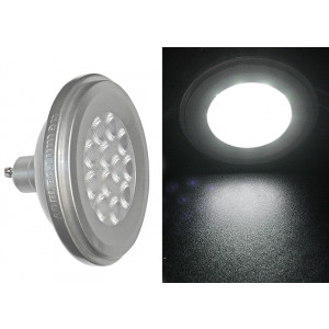 LED SMD ΑΛΟΥΜΙΝΙΟ ΑΣΗΜΙ AR111 GU10 <strong>12W</strong> 230VAC <strong>36° ΛΕΥΚΟ</strong> <p><b>(Συσκευασία : 6τμχ)</b><p>